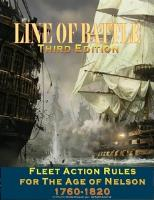 Line of Battle - Fleet Action Rules for the Age of Nelson, 1760-1820 (3rd Edition, 2nd Printing)