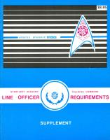 Line Officer Requirements Supplement