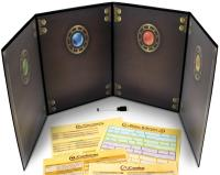 Master's Tome - 4-Panel GM Screen. Black