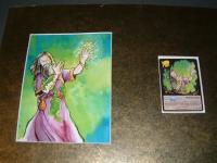 "TSR Spellfire - Memory Moss - 5.5"" x 7"" Original Watercolor"