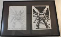 Untitled Battletech Pen & Ink w/Original Concept Sketch
