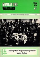"Vol. 3, #5 ""Phalanxes in Ancient Warfare, Tumbridge Wells Wargame, English Civil War Game Part 4"""