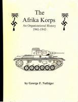 Afrika Korps, The - An Organizational History
