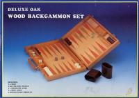 Backgammon - Deluxe Oak Wood Set
