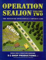 Operation Sealion - The Miniature Operational Campaign Game Volume 2