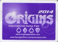 2014 Origins Convention Gaming Industry Playing Cards (Purple Back)