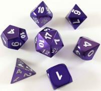 Poly Set - Purple w/White (7)