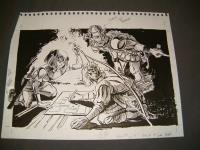 "#14 TSR AD&D - Dungeoneer's Survival Guide - 8"" x 13"" Original Ink"