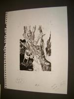 "#17 TSR AD&D - Dungeoneer's Survival Guide - 5.5"" x 7"" Original Ink"