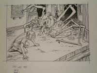 """#18 TSR AD&D - The Rod of Seven Parts - 11"""" x 7.5"""" Original Ink"""