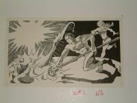 "#21 TSR AD&D - A4 In the Dungeons of the Slave Lords - 12"" x 6.5"" Original Ink"