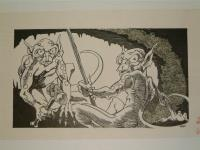 "#24 TSR AD&D - A4 In the Dungeons of the Slave Lords - 12"" x 6.5"" Original Ink"