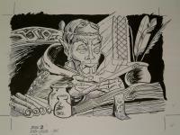 """#26 TSR AD&D - The Rod of Seven Parts - 11"""" x 8"""" Original Ink"""