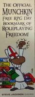 Official Munchkin Free RPG Day Bookmark of Roleplaying Freedom (Free RPG Day 2015)
