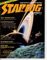 """#5 """"UFO Episode Guide, 3-D Spectacular, Space - 1999"""""""