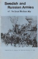 Swedish and Russian Armies of the Great Northern War