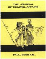 Journal of Tekumel Affairs, The - Vol. 3 #2 w/Imperial Military Journal Vol. 2 #4