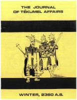 Journal of Tekumel Affairs, The - Vol. 3 #3 w/Imperial Military Journal Vol. 2 #5