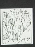 "A12 - Vase Thelephor - 3"" x 4"" Original Ink"