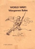 World War 1 Wargames Rules
