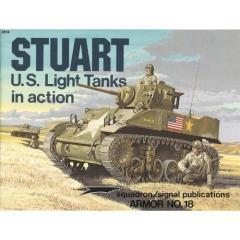Stuart U.S. Light Tanks in Action