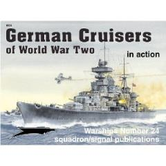 German Cruiser of World War Two in Action