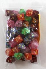 Assorted Polyhedral d10 Dice (50)