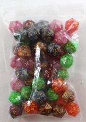 Assorted Polyhedral d20 Dice (50)