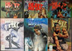 Heavy Metal Magazine 1997 Collection - 6 Issues!