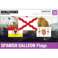 17th Century Spanish Galleon Flags