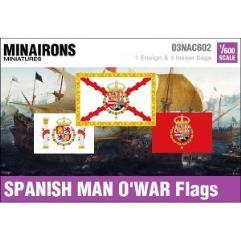 17th Century Spanish Man-Of-War Flags