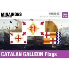 17th Century Catalan Galleon Flags