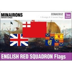 17th Century English Red Squadron Flags