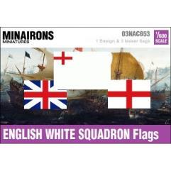 17th Century English White Squadron Flags