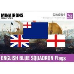 17th Century English Blue Squadron Flags