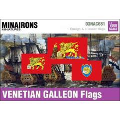 17th Century Venetian Galleon Flags
