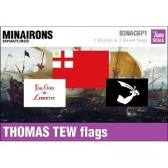 17th Century Thomas Tew Pirate Flags