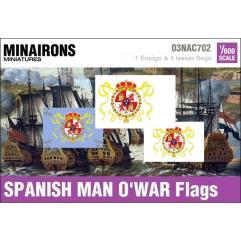 18th Century Spanish Man-Of-War Flags