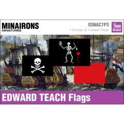 18th Century Edward Teach Pirate Flags