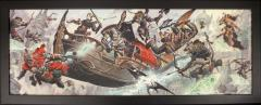 Battle Over Sharn - Art Print on Canvas (Limited Edition)