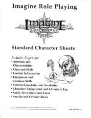 Standard Character Sheets