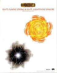 RPGA - 10-Ft. Flame Strike & 10-Ft. Lightning Sphere Template