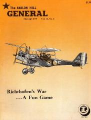 "Vol. 11, #6 ""Richthofen's War, Waterloo Playing Aid Insert"""