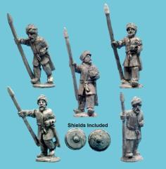 Muslim Infantry Spearmen Advancing