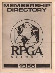 1986 RPGA Network Membership Directory