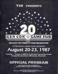 1987 Gen Con Official Program