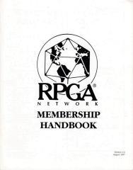 1997 RPGA Membership Handbook