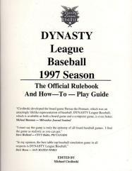 Dynasty League 1997 Season Rulebook & Player Cards