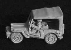 M38 Radio Jeep w/Driver & Canvas Top