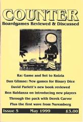 "#5 ""Ra - Game and Set to Knizia, New Games for Binary Dice, David Parlett's New Book Reviewed"""